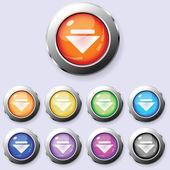 Um conjunto de botões redondos download — Vetor de Stock