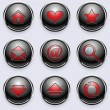 Royalty-Free Stock Vector Image: A set of round internet buttons