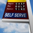 Gas Price Sign — Stock Photo