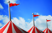 Circus tent roof — Stock Photo