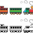 Stock Vector: Toy Train