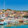 The seaside town of Cassis in the French Riviera - Stock Photo