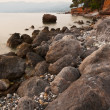 Messinian rocky seascape - Stock Photo
