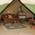 Safari Tent — Stock Photo