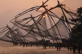 Chinese Fishing Nets At Dusk — Stock Photo