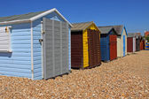 Locked Beach Huts — Stock Photo