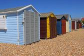 Locked Beach Huts — Stock Photo
