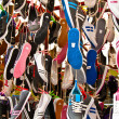 Hanged Colorful Sport Shoes — Stock Photo #6049051