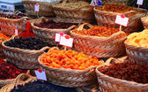 Organic Different Types Of Dried Or Candied Fruits At A Street M — Stock Photo