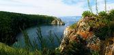 Rocks ashore great lake — Stock Photo