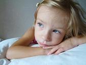 Portrait blonde girl — Stock Photo