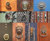 Small collection of old door knocker. — Stock Photo