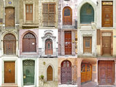 Small collection of ancient doors — Stock Photo