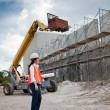 Asian Woman Inspector on construction site — Stock Photo #6125889