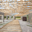 New Construction roof truss — Stock Photo #6289409