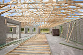 New Construction roof truss — Stock Photo