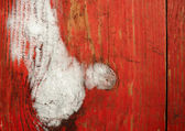Frosted red painted planks — Stock Photo