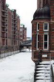 Winter in der Hamburger Speicherstadt — Stock Photo