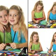 Image of an arts & crafts kids collage — Stock Photo