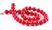 Red beads — Stock Photo