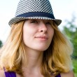 Blond girl in hat — Stock Photo #6460706