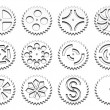 Royalty-Free Stock Photo: Gears on white background