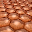 Honey cells texture — Stock Photo