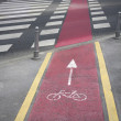 Bike lane - Foto Stock