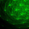 Green glowing abstract image — Stock Photo