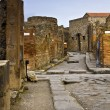 Chariot road in Pompeii, Italy — Stock Photo #6428692