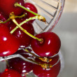 Cherries in glass — Stock Photo