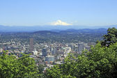 City and Mountain View — Stock Photo