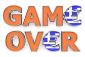 Greek Euro Game Over - Two Euro Symbols — Stock Photo