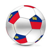 Soccer Ball/Football Liechtenstein — Photo