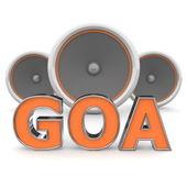 Goa altavoces — Stockfoto