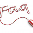 Browse the Glossy Red Faq Cable — Stock Photo #5724379