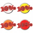 Discount Buttons - 10% — Stock Photo