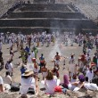 Stock Photo: Dance near Sun pyramid