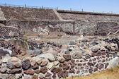 Ruins and pyramid — Stock Photo