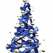 Art Christmas tree - Stock Photo