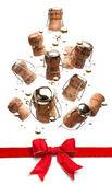 Pomysł jest bardzo śmieszne kartki świąteczne pozdrowienia — Zdjęcie stockowe