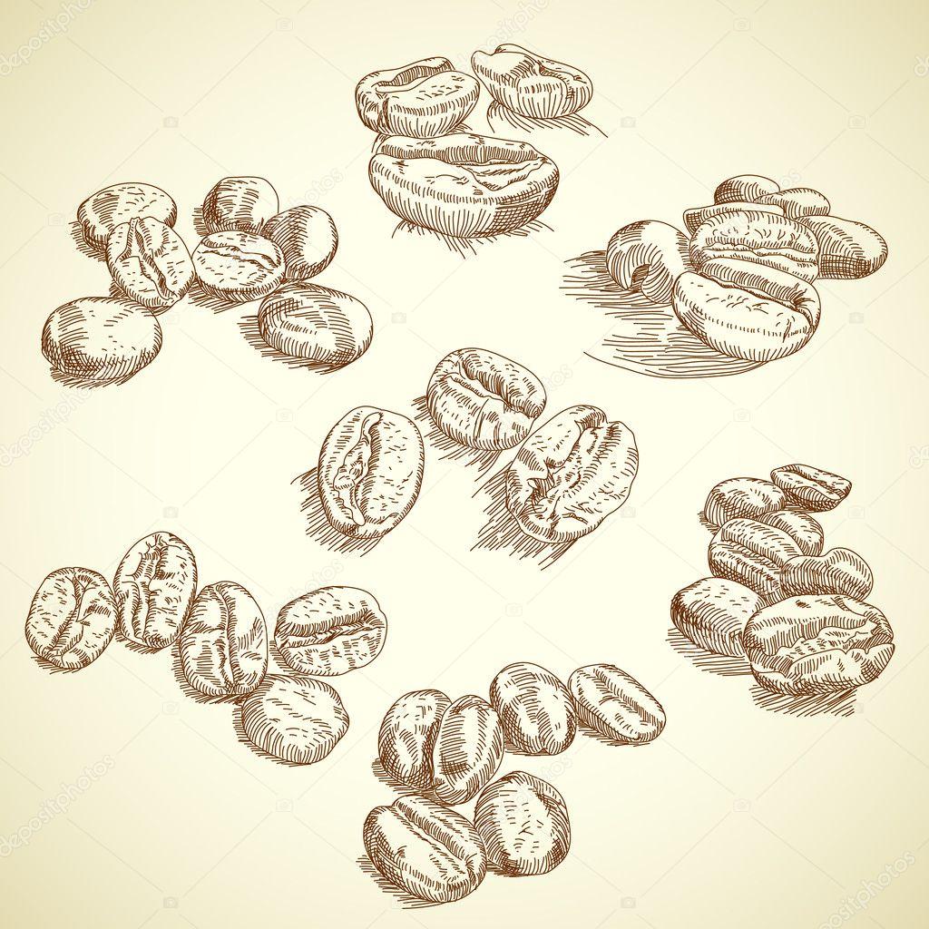 Coffee bean stock vector aqua 5806355 for How to draw a coffee bean