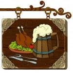 Beer background — Stock Vector #6676041