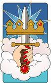 Ace of Swords — Stock Vector