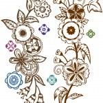 Постер, плакат: Funky folk art flowers