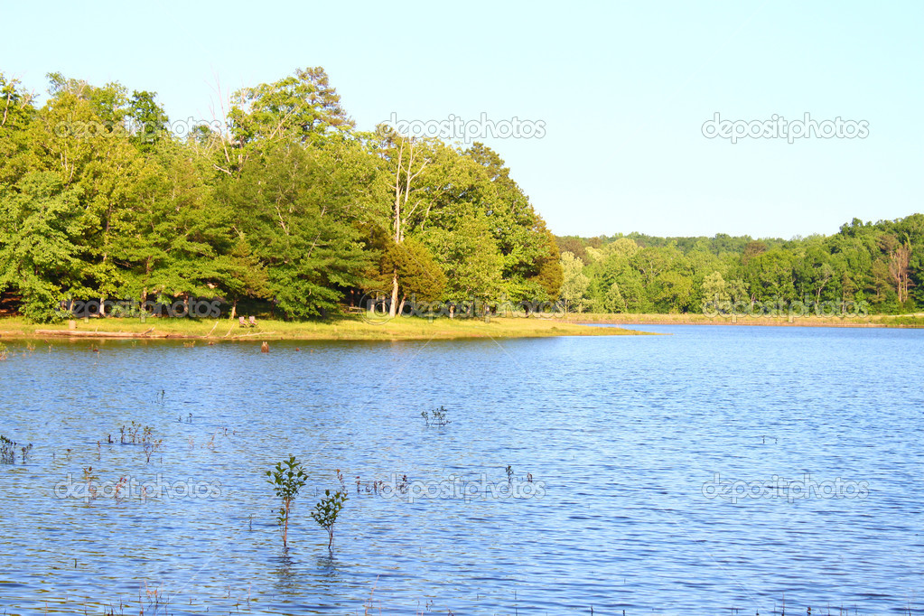 Haynes Lake at Tishomingo State Park in northern Mississippi.  Stock Photo #5457699