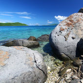 Coastline in British Virgin Islands. — Foto de Stock