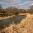 Kishwaukee River in Illinois — Stock Photo