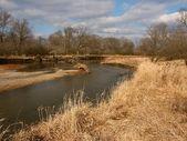 Kishwaukee River in Illinois — Stock Photo