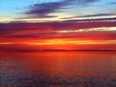 Lake superior zonsondergang — Stockfoto
